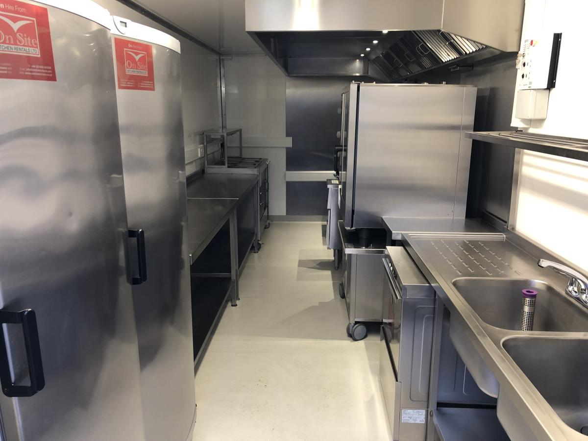 Our Sprinter unit can be equipped with everything your chefs need to deliver your regular menu.